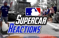 Driving My Supercar to a Baseball Game! SUPERCAR REACTIONS! FANS GO WILD!