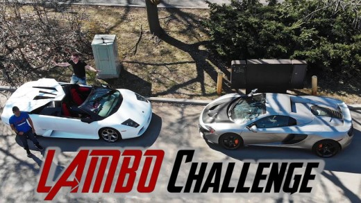 LAMBO MURCI ROOF CHALLENGE! HOW LONG DOES IT TAKE?