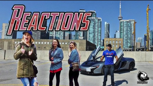 """DRIVING a """"PRETTY"""" SUPERCAR in the CITY! EPIC REACTIONS!"""