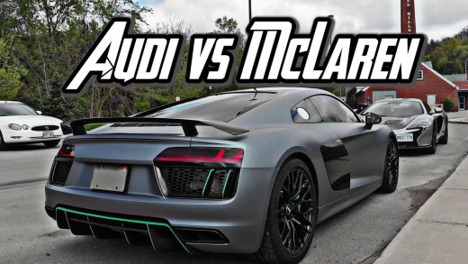 Loudest AUDI R8 vs Squeakiest McLaren 650s – Which is Loudest?