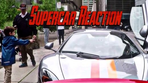 FUNNY REACTIONS Driving a MCLAREN through the CITY!